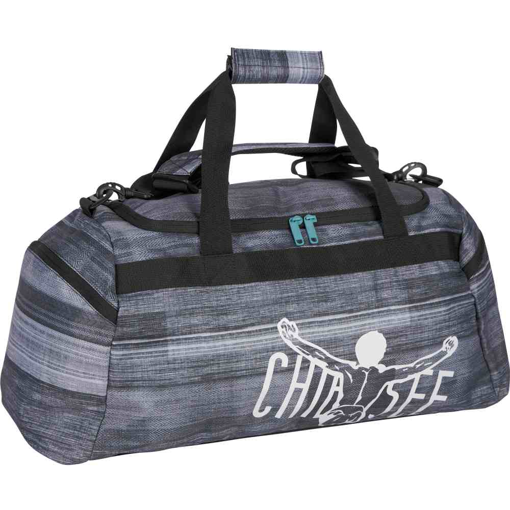 CHIEMSEE Matchbag Large Sporttasche Reisetasche Tasche Schwarz Grau Neu