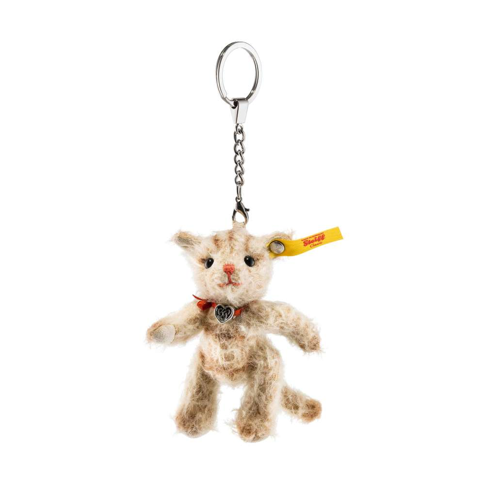 STEIFF 040337 Schlüsselanhänger Tiny Katze 10cm gegliedert Mohair Sammler