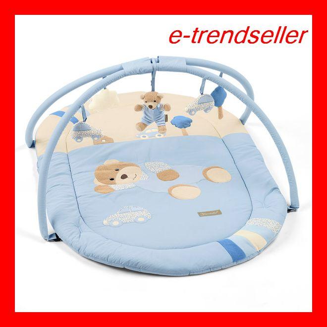 sterntaler 91116 spielbogen billy b r blau 80 x 120 krabbeldecke neu ebay. Black Bedroom Furniture Sets. Home Design Ideas